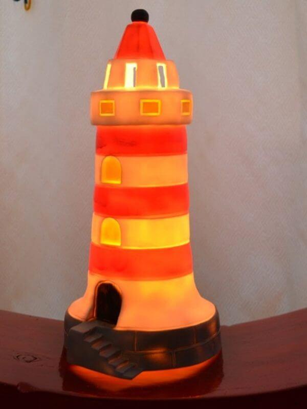 Heico Vuurtoren rw klein (LED) (verlicht)