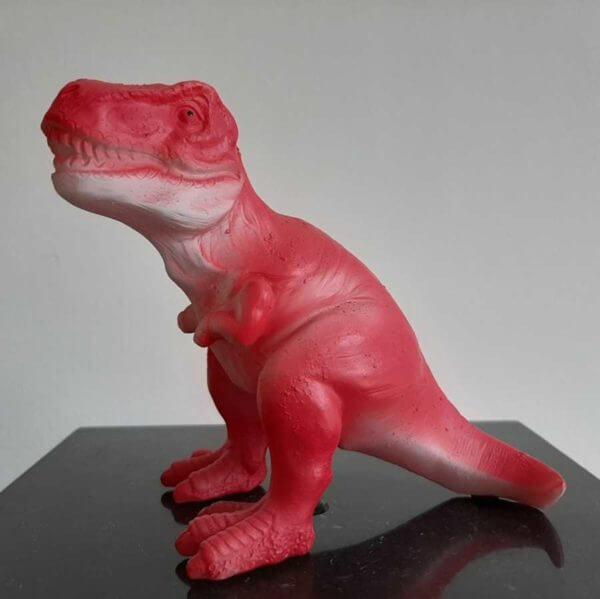 mini led dino t-rex rood