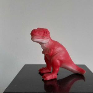 mini led dino t-rex rood
