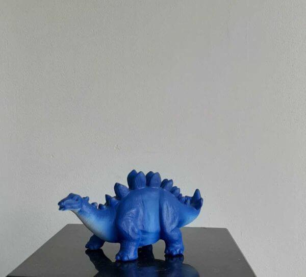 mini led stegosaurus blauw
