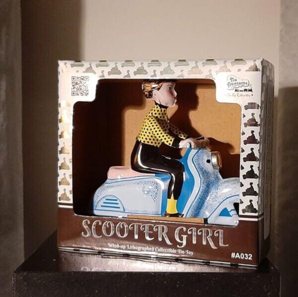 scootergirl blauw/geel