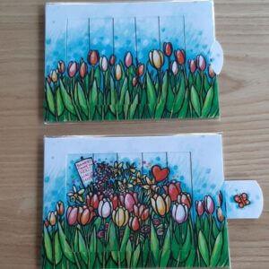 schuifkaart tulpen