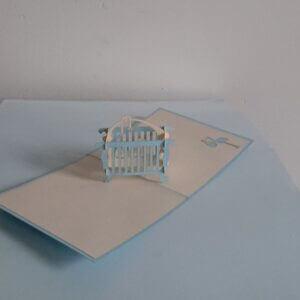 pop-up babywieg blauw
