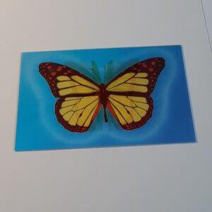 3d vlinder geel