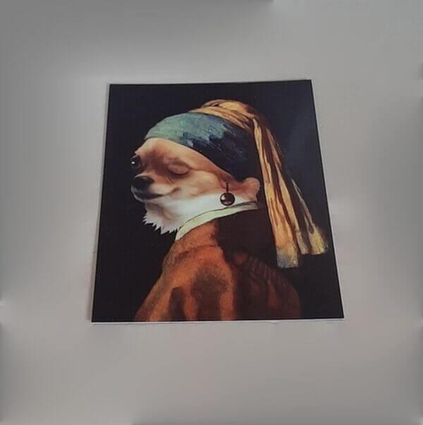 3d hondje met parel