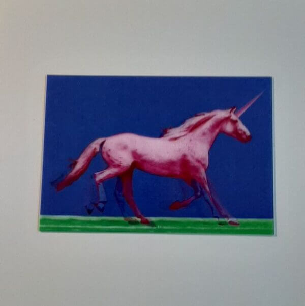 3d roze eenhoorn